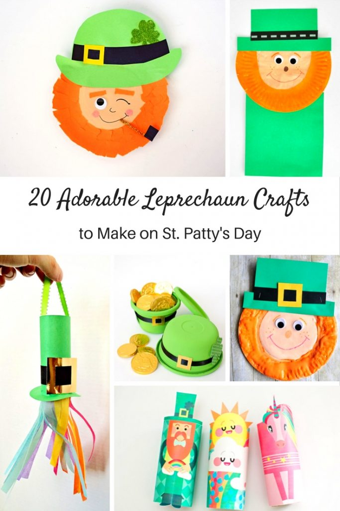 Kids will love these creative and adorable Leprechaun Crafts! Perfect for celebrating St. Patrick's Day at home, in the classroom, or homeschool!