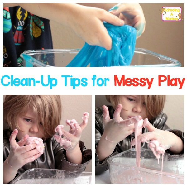 Love messy projects but hate the mess? Use these simple out-of-the-box ideas to keep messy activities clean! Or at least, cleanER.