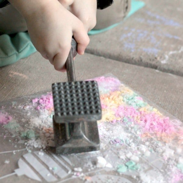 Valentine's Day is filled with fun and science when you make this easy oobleck recipe using conversation hearts! Kids will love making this!