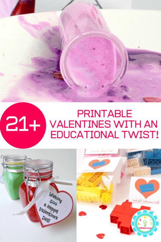 Don't want to give out 33 Teenage Mutant Ninja Turtle Valentines? Make one of these creative and educational school Valentine ideas instead!