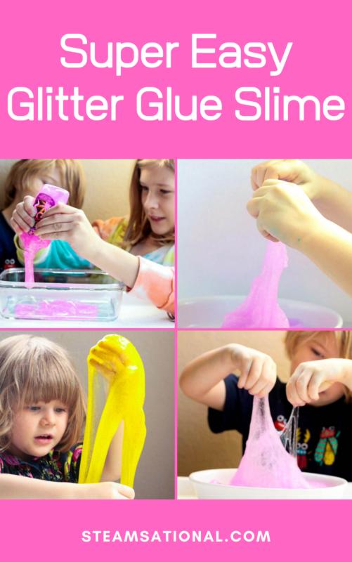glitter glue slime
