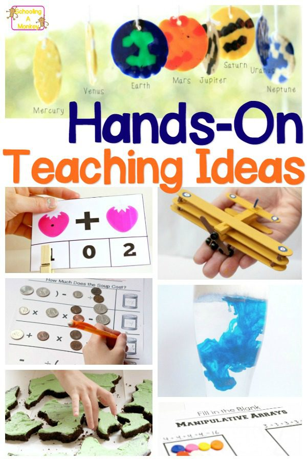 School is a lot more fun for kids when things are hands on. Teachers, use these hands-on teaching ideas to jump start your lessons and make learning fun!