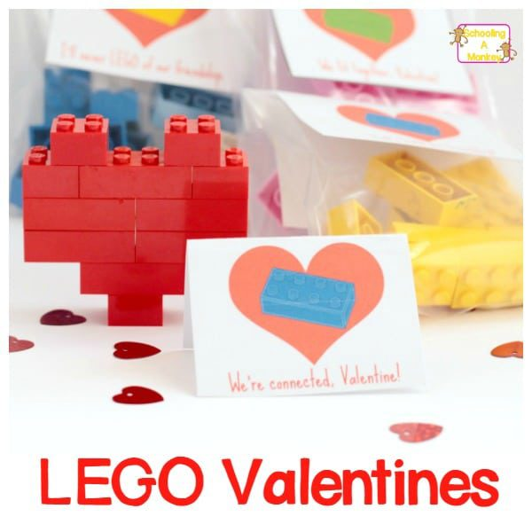 Easy and Adorable Printable Heart LEGO Valentines