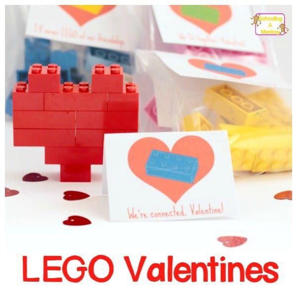 Easy LEGO Heart Valentine: V-Day STEM Activity for Kids!