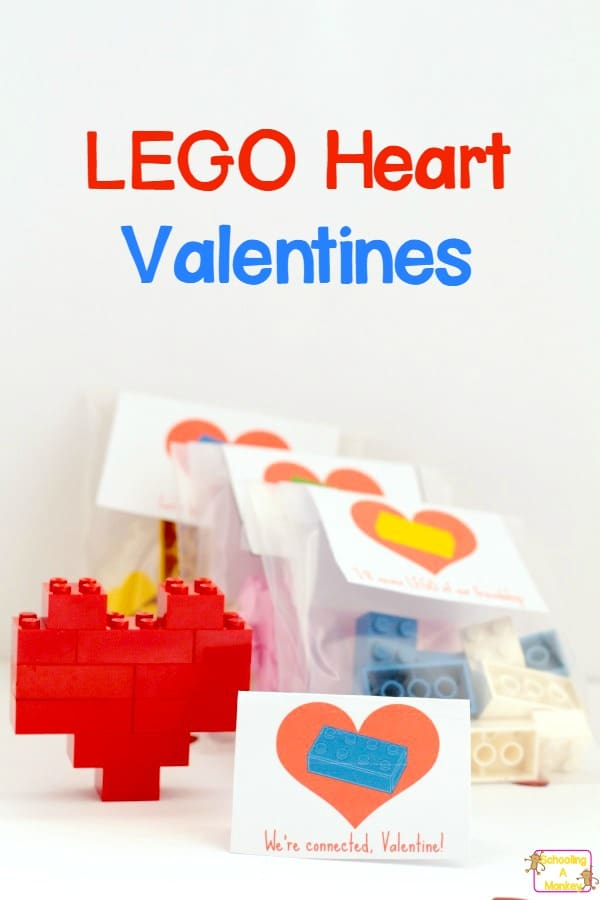 How to build an easy LEGO heart valentine. Use bricks you already have to put together these LEGO valentines!