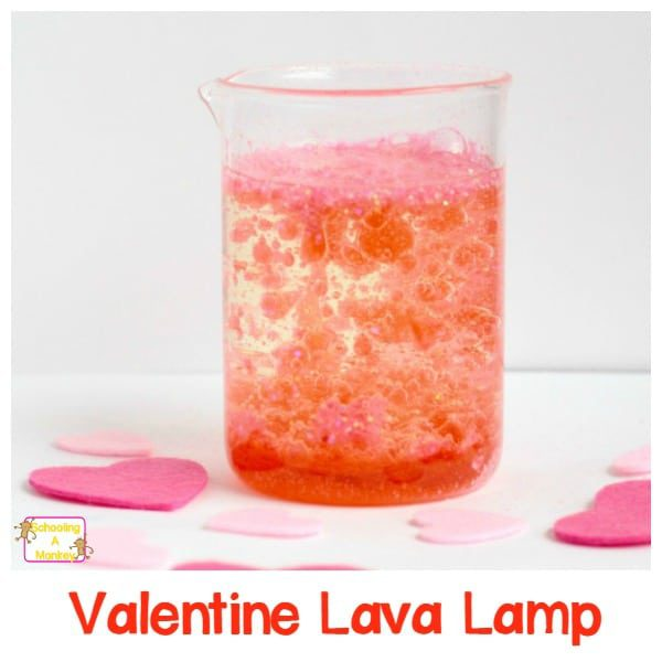Learn about science this Valentine's Day with this fun Valentine's themed lava lamp science experiment! Kids will have a blast with this!