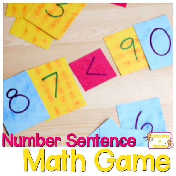 Easy Number Sentence Game for 1st-2nd Graders