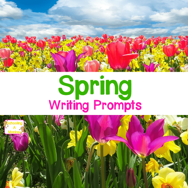Kids stuck on writing? Can't figure out what to write? These spring writing prompts will help your kids find endless things to write about!