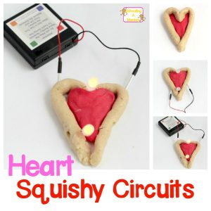 Squishy Circuits Heart: Light-Up Valentine's STEM Activity