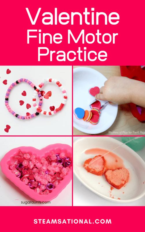 valentine fine motor practice