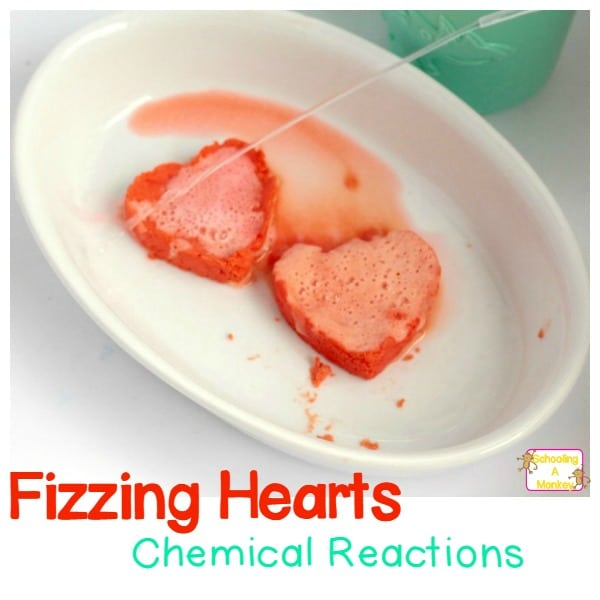 Valentine's Hearts Fizzing Chemical Reactions