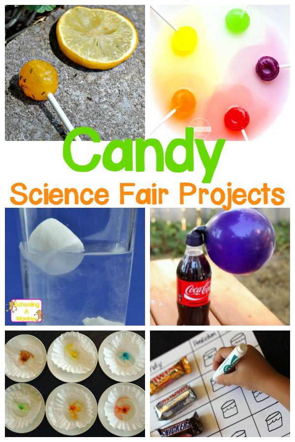 What is more fun than candy? If your kids love candy, inspire them with these Candy Science Fair Project Ideas! They will be the star of the fair!