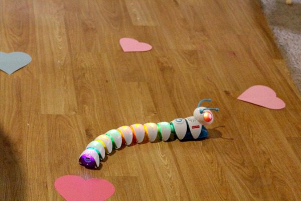 Try this fun technology-themed STEM activity if your kids own a coding caterpillar! This coding caterpillar challenge is filled with Valentine's fun!