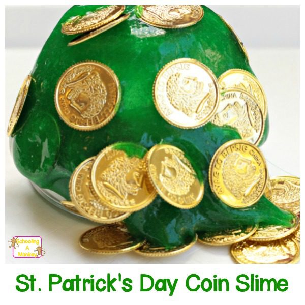 This St.Patrick's Day, make this treasure hunt St. Patrick's Day slime! Kids will love playing with the slime and finding the hidden coins.