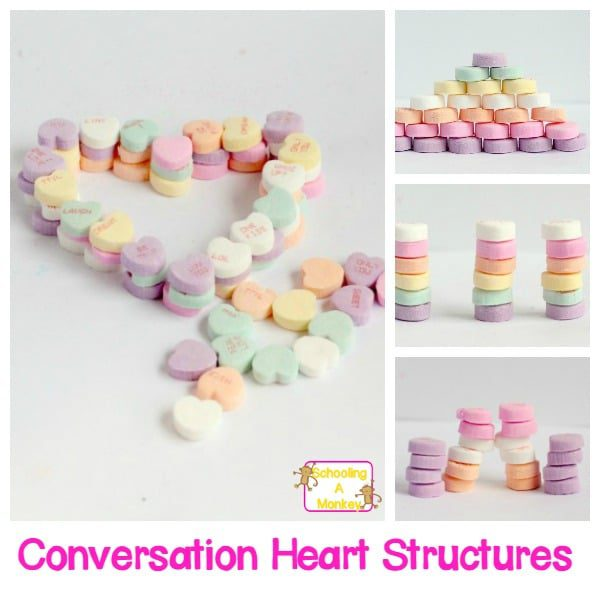 Conversation Heart Structures: A Valentine's STEAM Activity