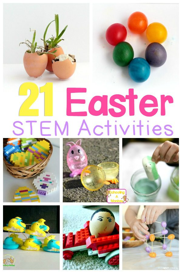 Easter is an exciting time for most kids. Capture this excitement and boost STEM skills with these Easter STEAM activities!