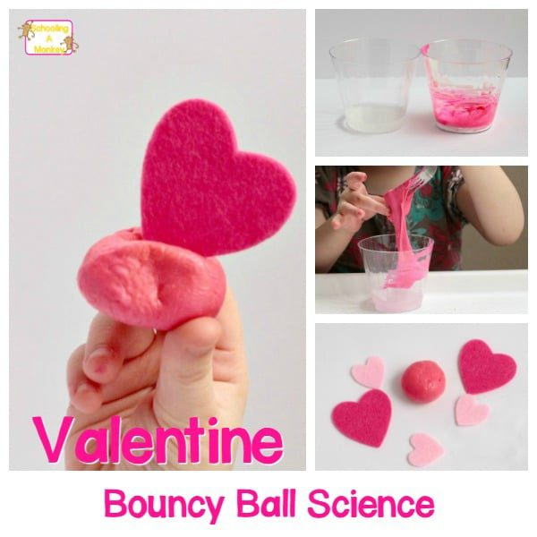 Homemade Bouncy Ball Valentine's Day STEM Activity for Kids