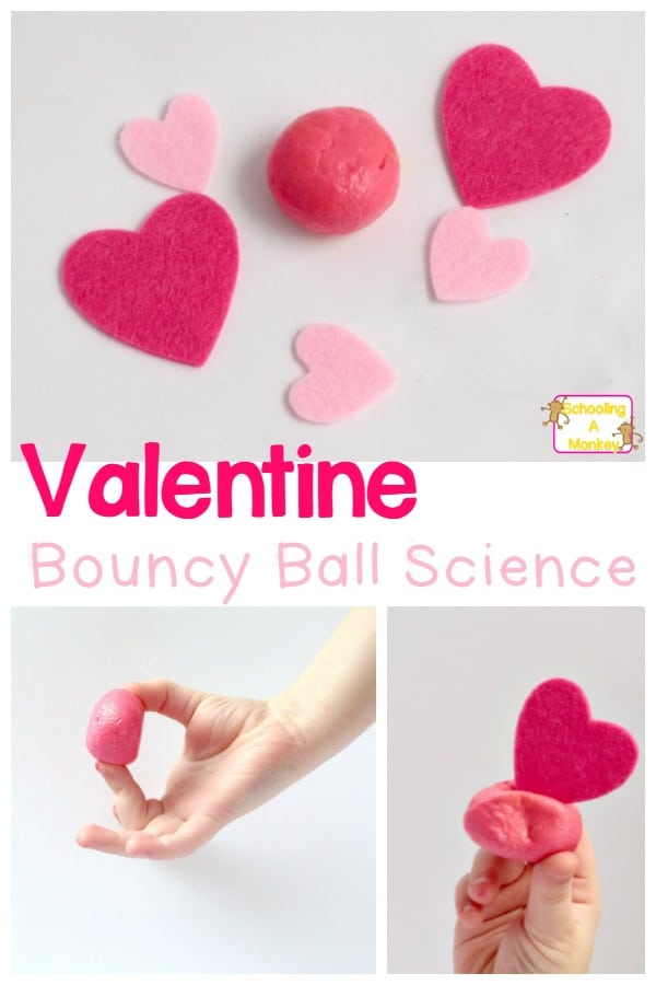 This Valentine's Day, make these bouncy balls using just borax, glue, and corn starch! Kids will be amazed at how easy it is to make a homemade bouncy ball!