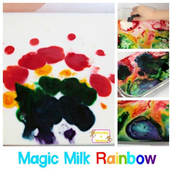 Preschoolers will love this amazing science demonstration on surface tension! This magic milk rainbow science experiment is perfect for little scientists.