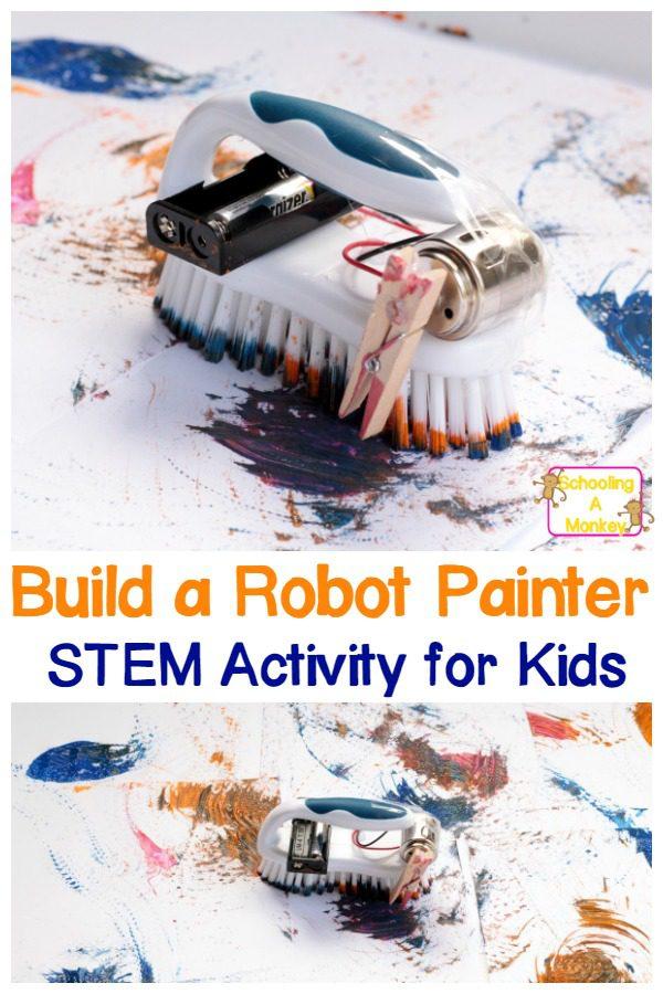 Painting Brush Bot: Robot STEAM Activity for Kids