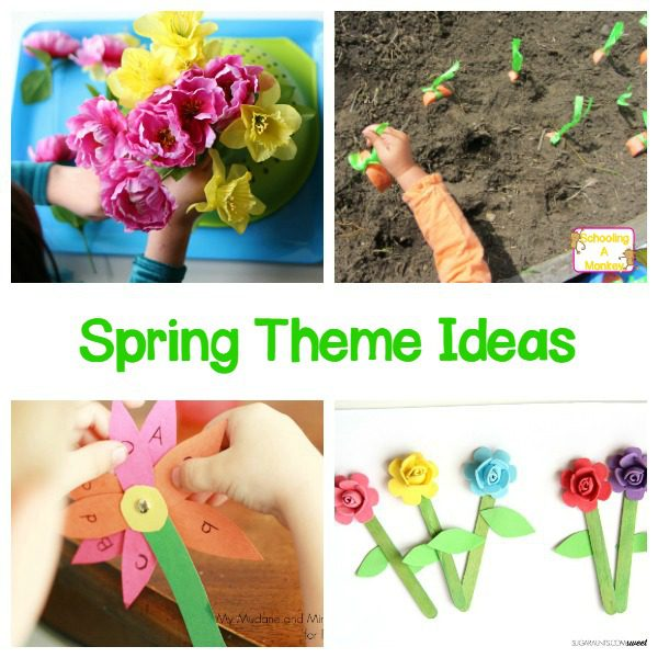 Looking for spring activities? These spring theme ideas for preschool and kindergarten will teach valuable lessons in a hands-on way!
