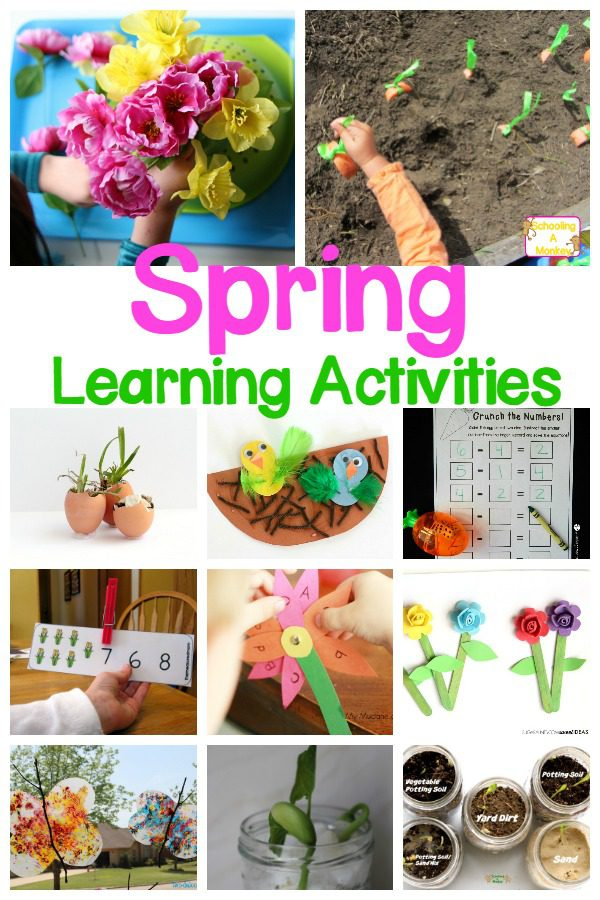 Enjoy these Spring STEAM Activities for preschoolers! Tons of garden, Easter, weather, birds, and butterfly spring STEM projects!