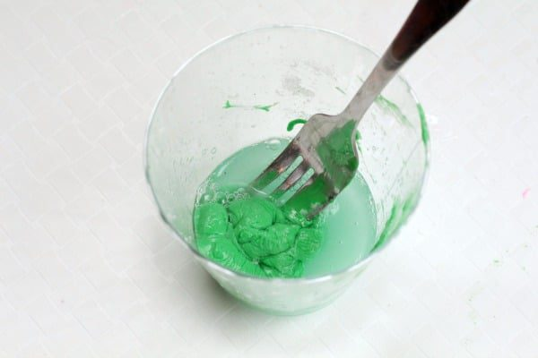 This adorable DIY bouncy ball is Kelley green and a super-fun, hands-on way to add St. Patrick's Day science to your classroom!