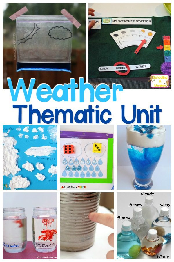 If your want to learn more about weather, look no further than these STEM weather activities perfect for completing a weather thematic unit filled with weather STEM activities. These weather activities for kids provide a fun hands on way to do weather STEM projects. #weatheractivities #stemactivities #thematicunit #handsonlearning