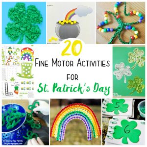 St. Patrick's Day Fine Motor Activities Kids will Love!