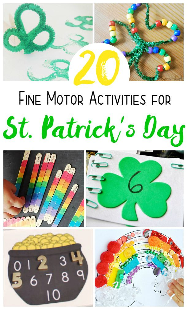 These St. Patrick's Day fine motor activities are the perfect way to help little ones build fine motor skills in a fun, seasonal way! So cute!