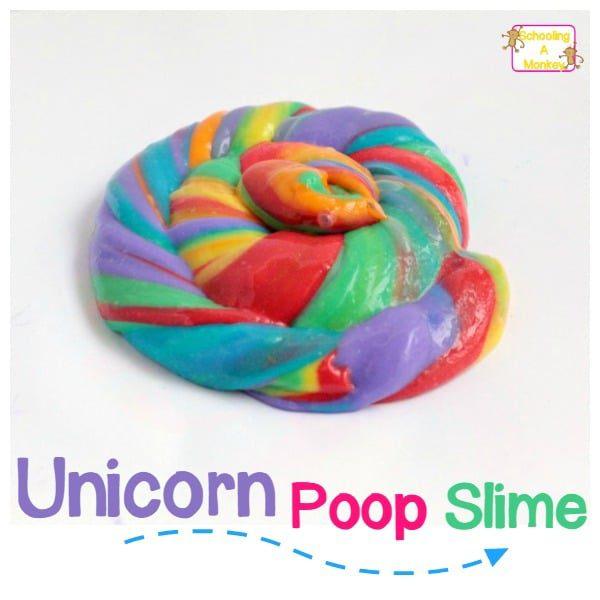 How to Make Rainbow Unicorn Poop Slime