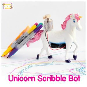 Draw Rainbows with an Adorable, Easy-to-Build Unicorn Scribble Bot!