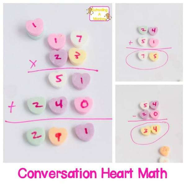 Hands-On Valentine's Day Math with Conversation Hearts