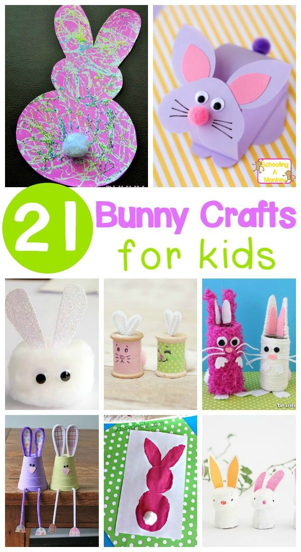 Celebrate a love of bunnies and spring with these adorable bunny crafts for kids! Perfect bunny activities for the classroom or at home.