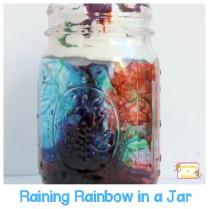 Easy Science for Kids: Raining Rainbow Cloud in a Jar