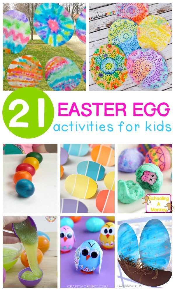 These fun egg activities for kids are perfect for Easter activities E letter of the week activities, or spring unit studies! So much egg fun!