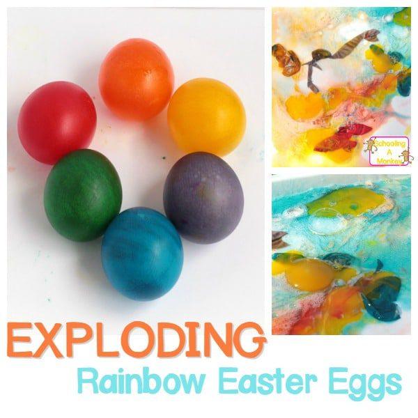 Exploding Rainbow Easter Eggs