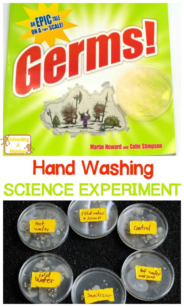 Have you read the book Germs? This fun hand washing science experiment brings to life the importance of hand washing for little ones.
