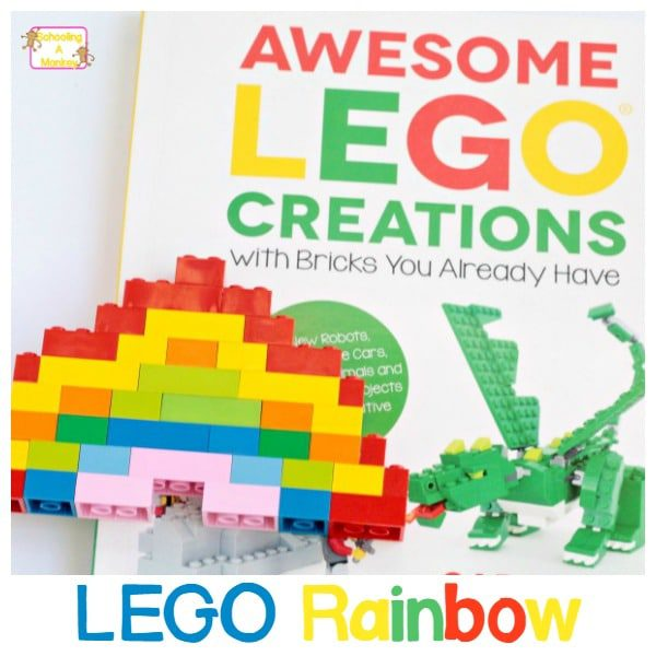Inspired by LEGO Creations by Sara Dees, this LEGO rainbow can be made using bricks you already own! It's harder than you think!