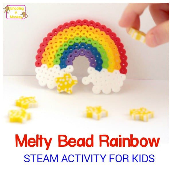 STEAM Activity for Kids: Design a Perler Bead Rainbow