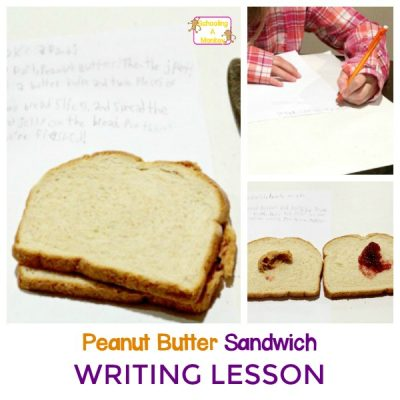 Hands-On Writing Activity: Peanut Butter Sandwich Lesson