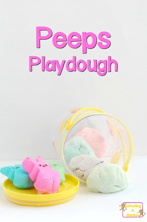 If you love or hate Peeps, you can't deny they are adorable! You don't have to like eating Peeps to make this super-fun Peeps playdough recipe!