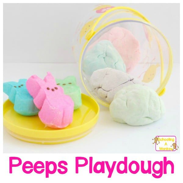 SOFT AND EDIBLE EASTER PEEPS PLAYDOUGH RECIPE FOR KIDS