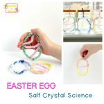 Easter STEM Activity: Sparkly Salt Crystal Easter Eggs