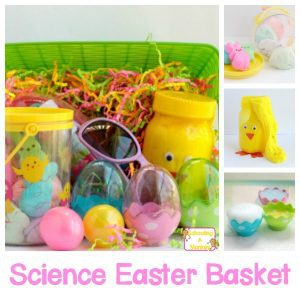 Easy and Colorful Science Easter Basket on a Budget