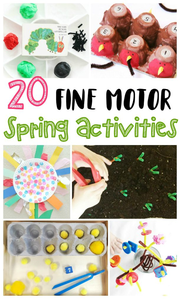 These spring fine motor activities are the perfect thing to add to your spring them at school, home, or at a home preschool!