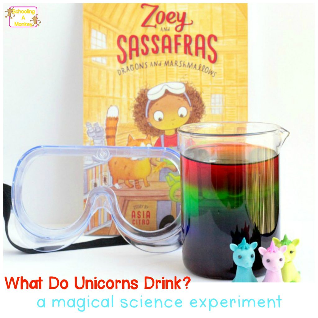 What do unicorns eat? They eat sugar rainbows! Learn how to make your own sugar rainbow density tower in this experiment inspired by Zoey and Sassafras.