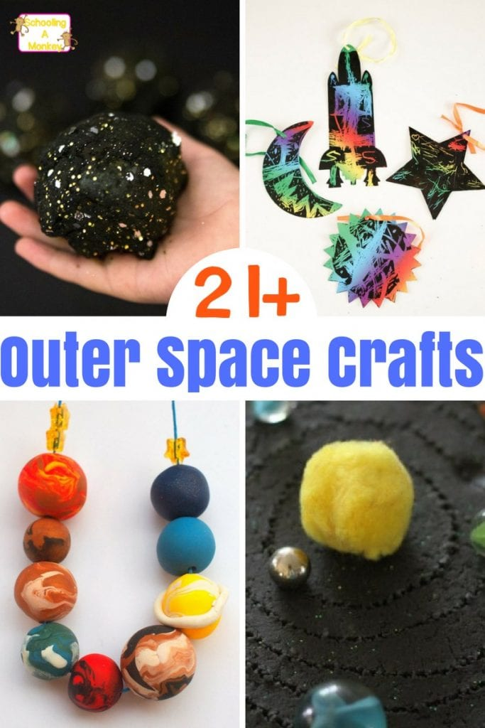 Creative outer space crafts and activities that are a blast for Outer space project
