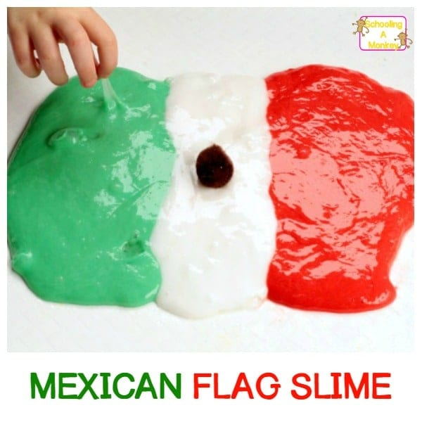 Celebrating Cinco de Mayo? Make it even more festive and educational with Cinco de Mayo slime! This educational Cinco de Mayo activity is perfect for kids!