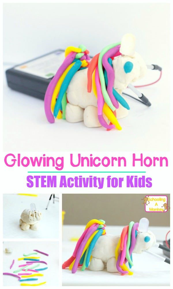 Build a fun Squishy Circuits unicorn! This adorable unicorn activity is the perfect STEM activity fit for a unicorn theme!